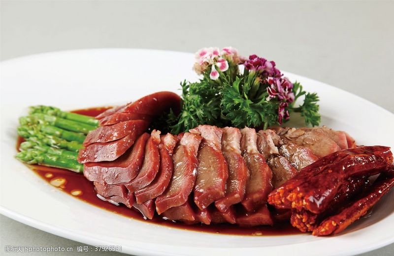 高清菜谱用图卤水猪舌