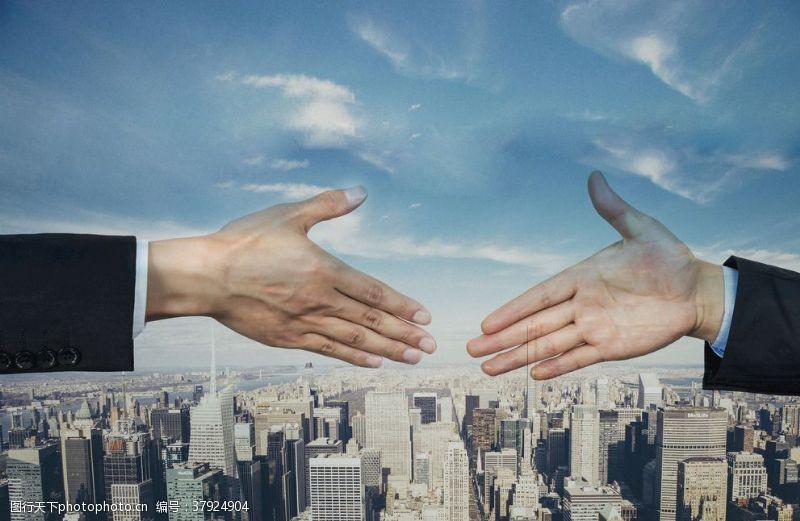商务商业合作握手