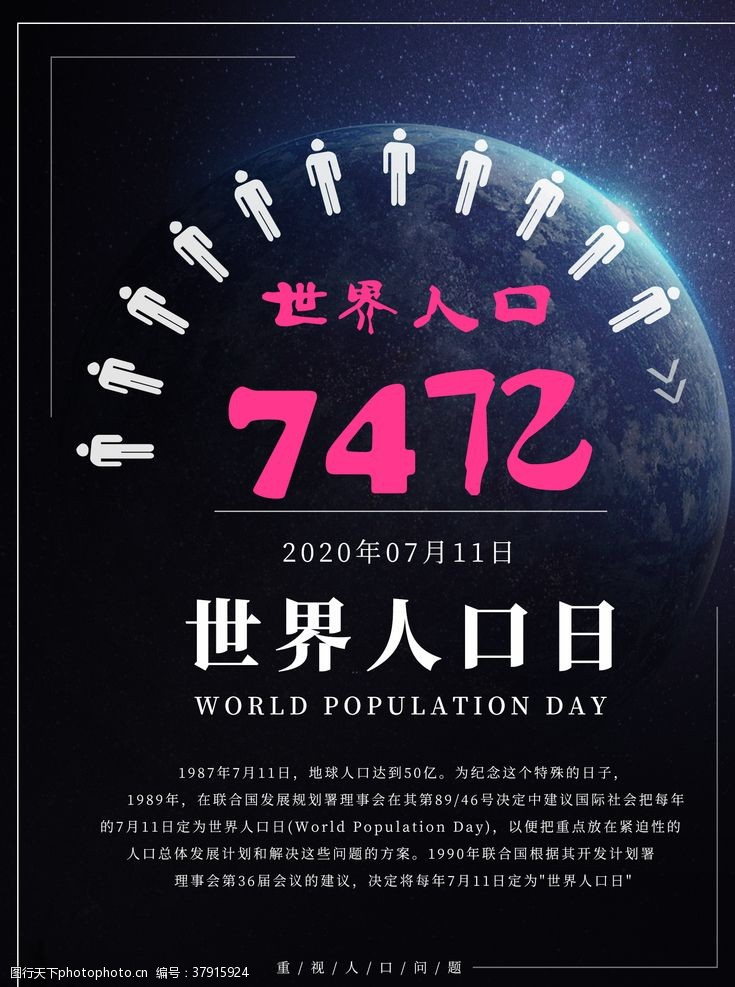 未来世界人口日