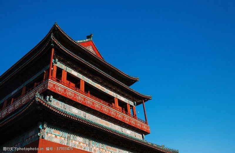 城墙城楼传统国风文化背景素材