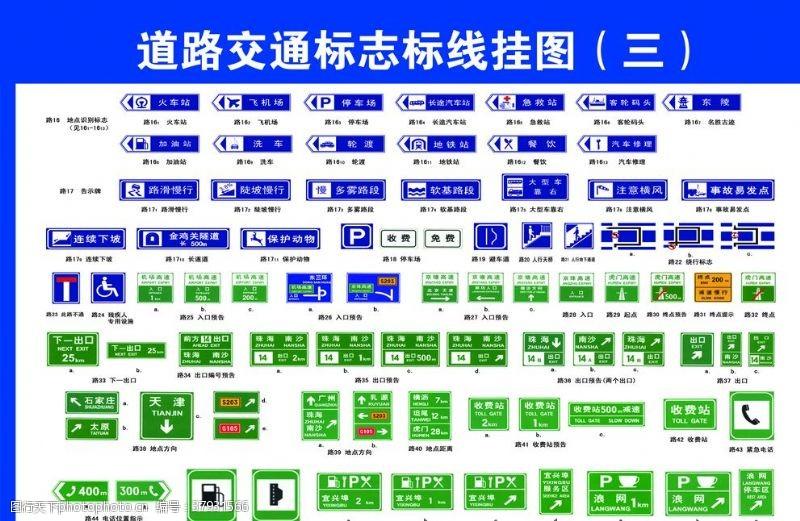 标示道路交通标志标识线挂图