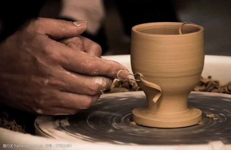 匠心传统手艺陶瓷背景素材
