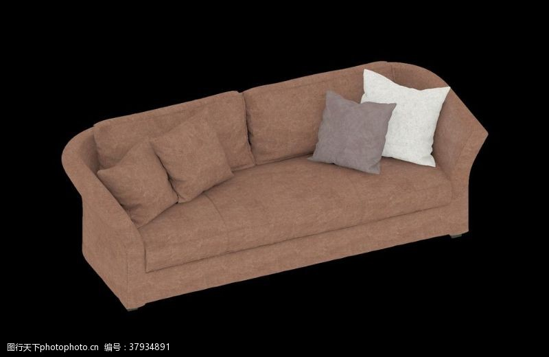 3d作品沙发