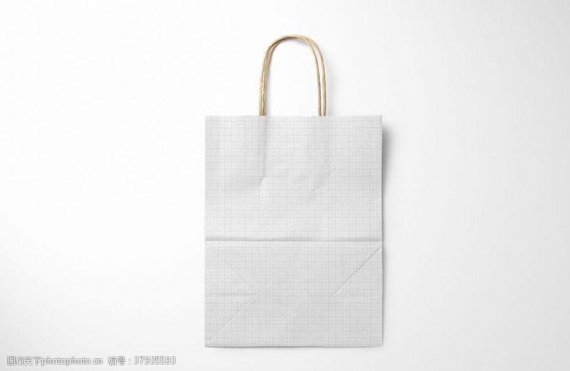 家装天然牛皮纸购物袋3实体模型套装