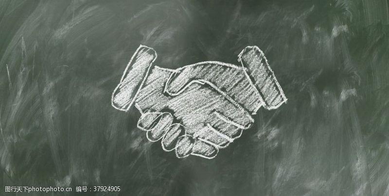 商务团队合作握手
