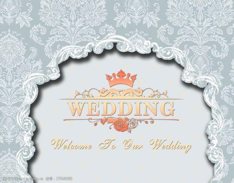 花纹壁纸婚礼背景