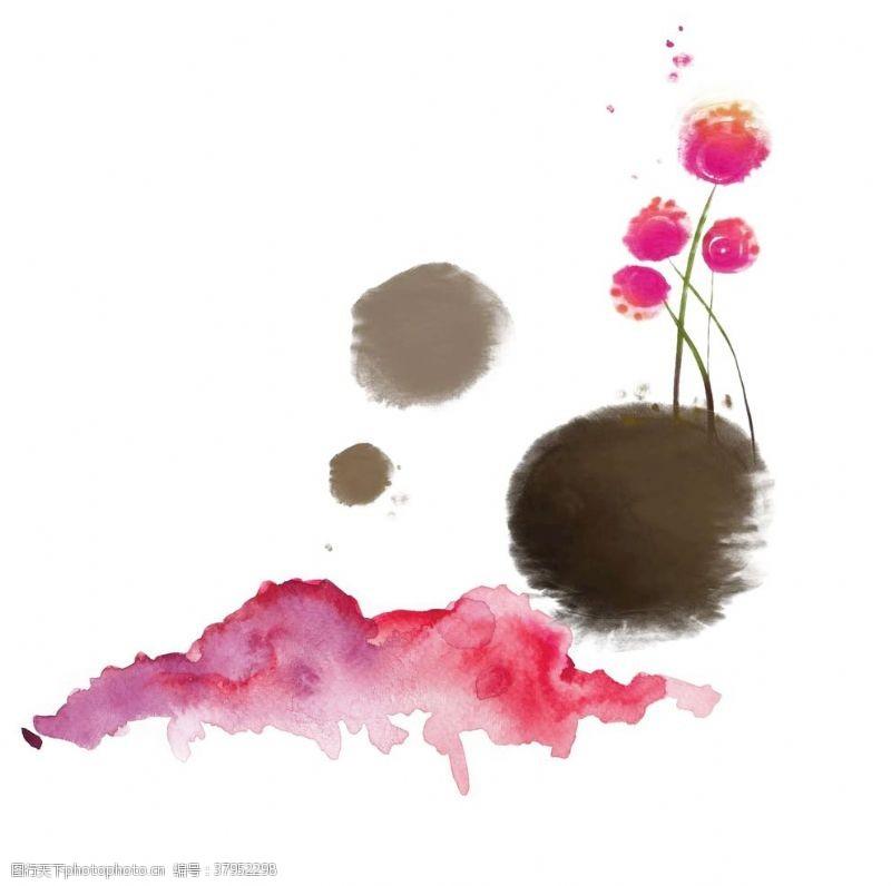 水墨艺术画抽象笔墨花卉