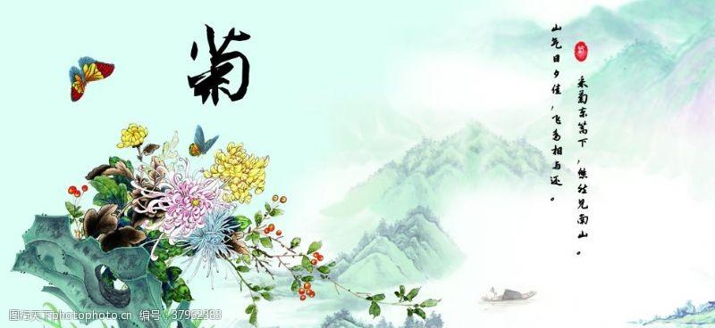 山水画文雅系列菊