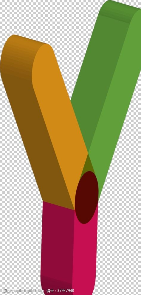 复古字母Y