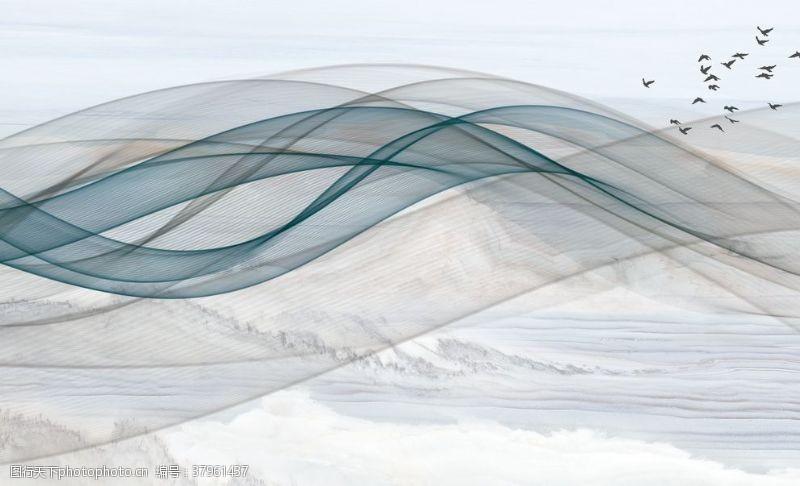 山水画抽象山水