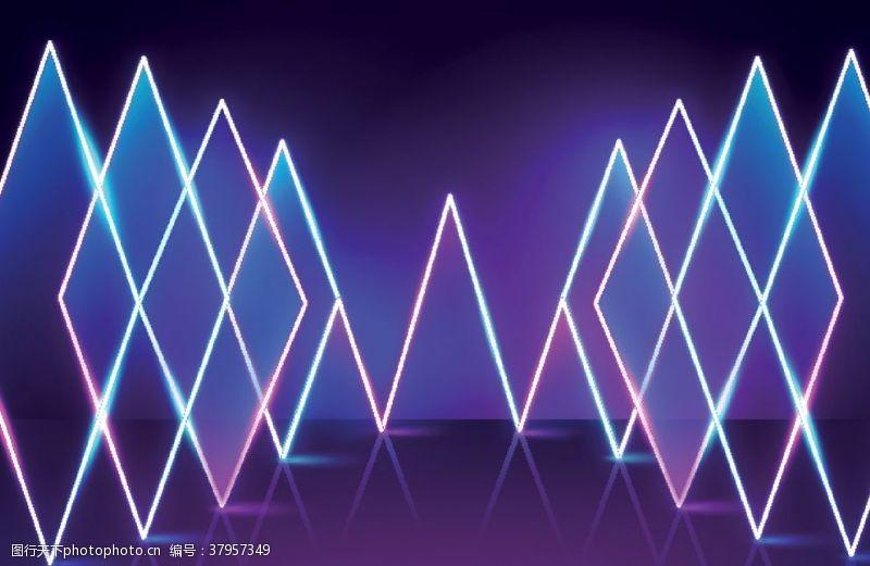 紫色动感霓虹背景