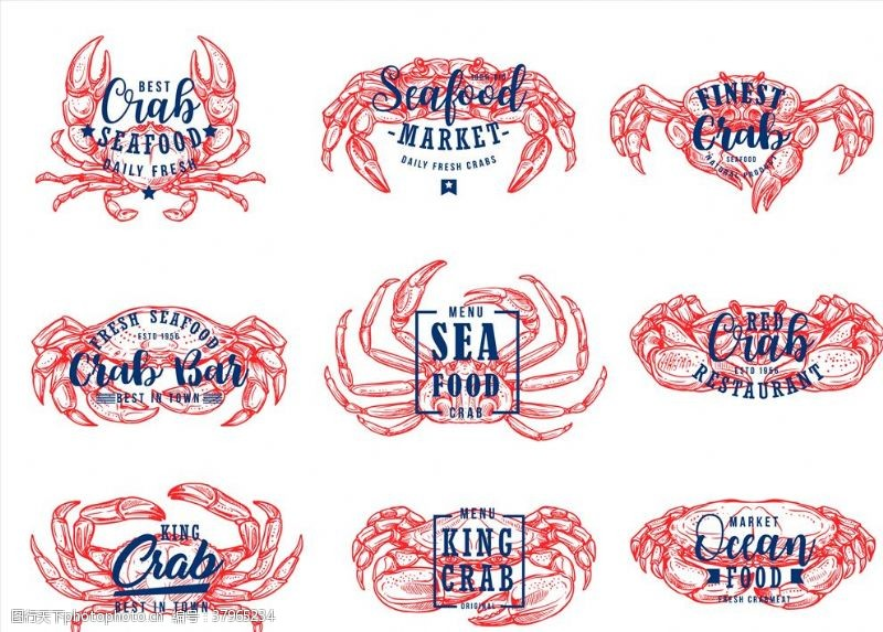 壁画海鲜食物