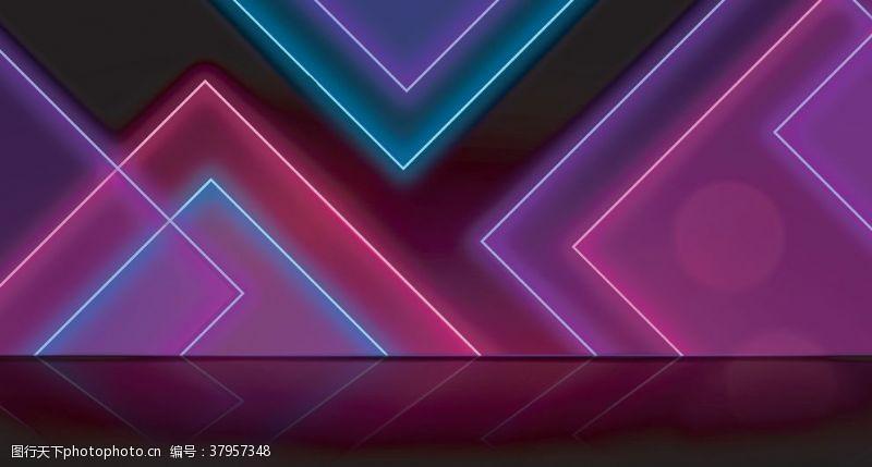 紫色霓虹灯效背景