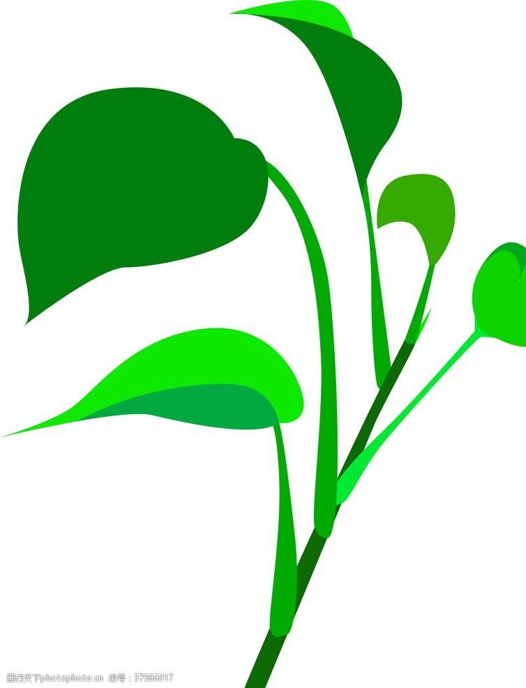 矢量素材绿植绿萝