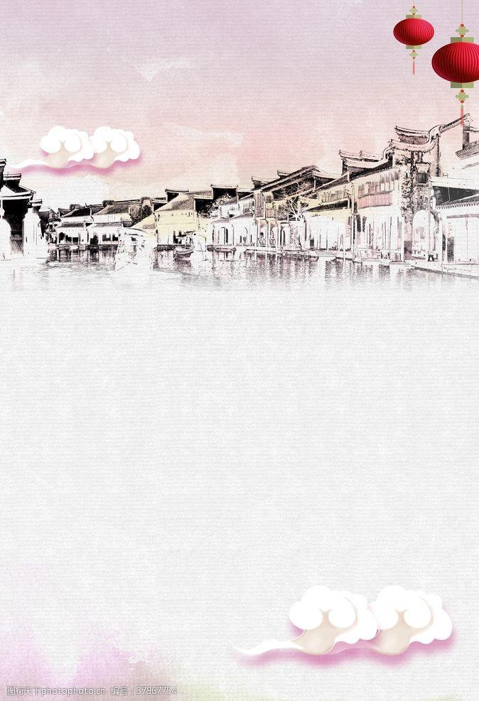壁画中国风海报