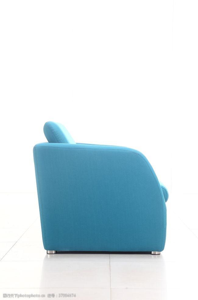 350dpi蓝色沙发侧面