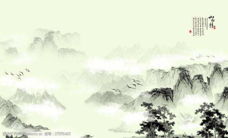 壁画山水情