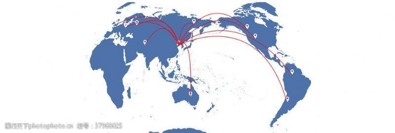 世界贸易分布图