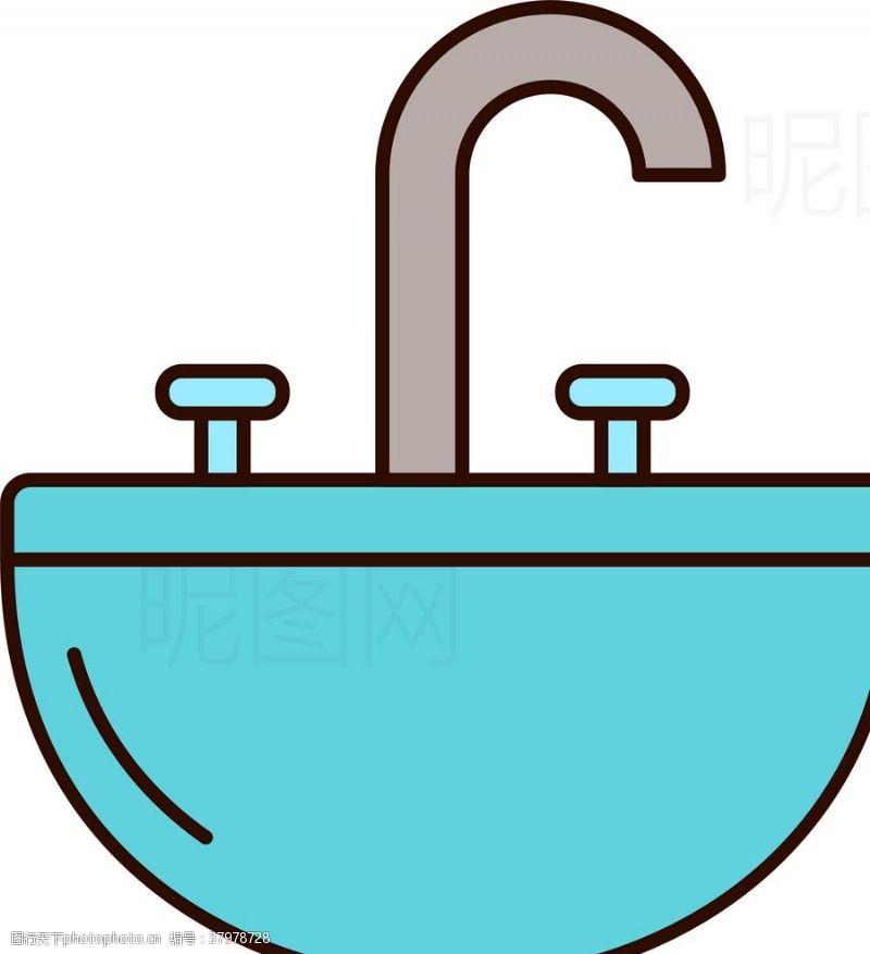发廊美容洗手池