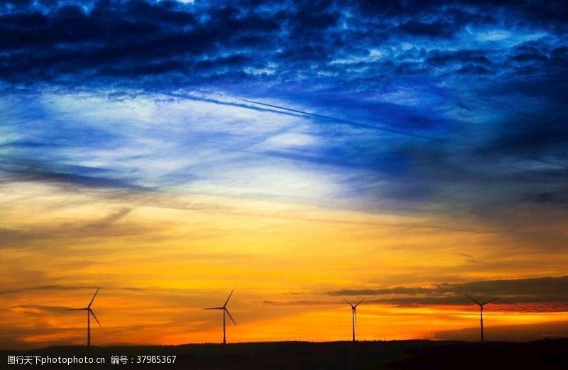 自然风景地平线黄昏