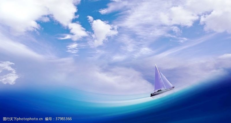 自然风景蓝海