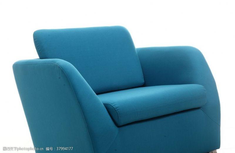 350dpi蓝色沙发特写