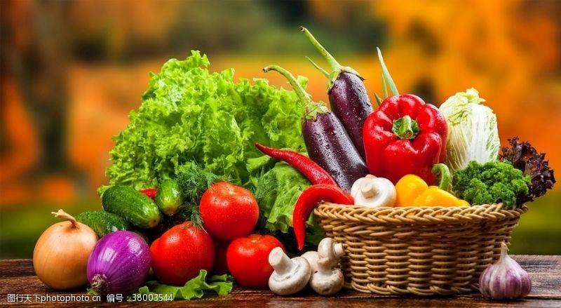 蔬果海报背景