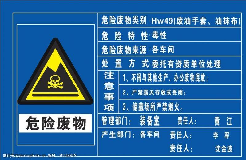 原创展板危险废物标识牌