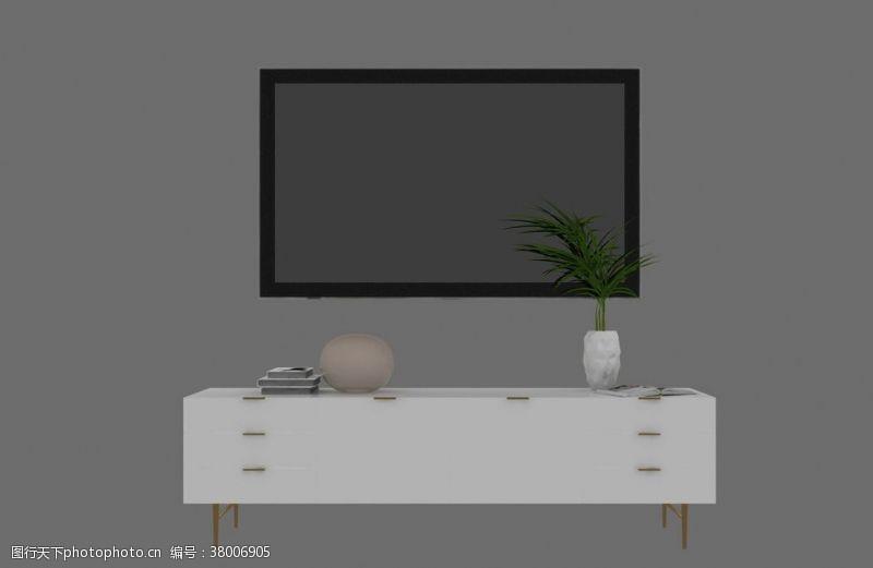 3d作品电视柜3d模型