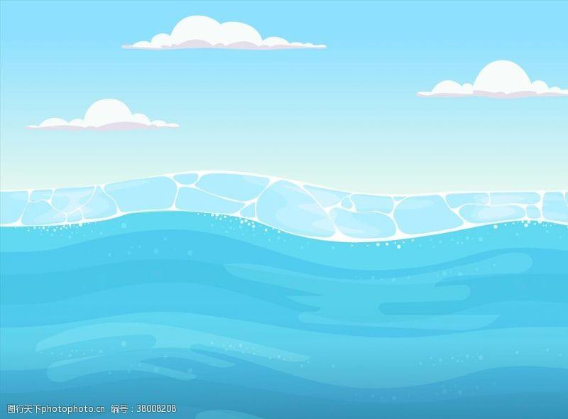 清澈的水海水