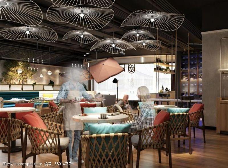 3d作品西餐厅设计