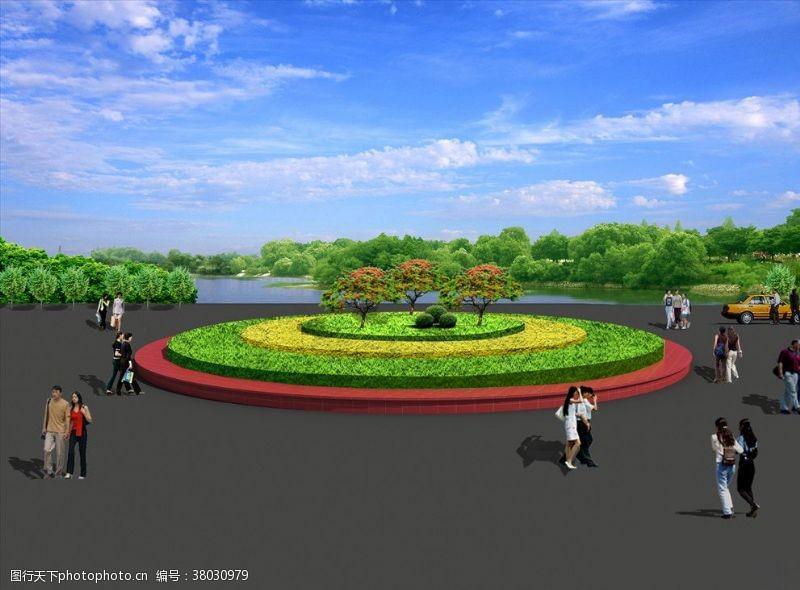 景观规划花坛绿化图