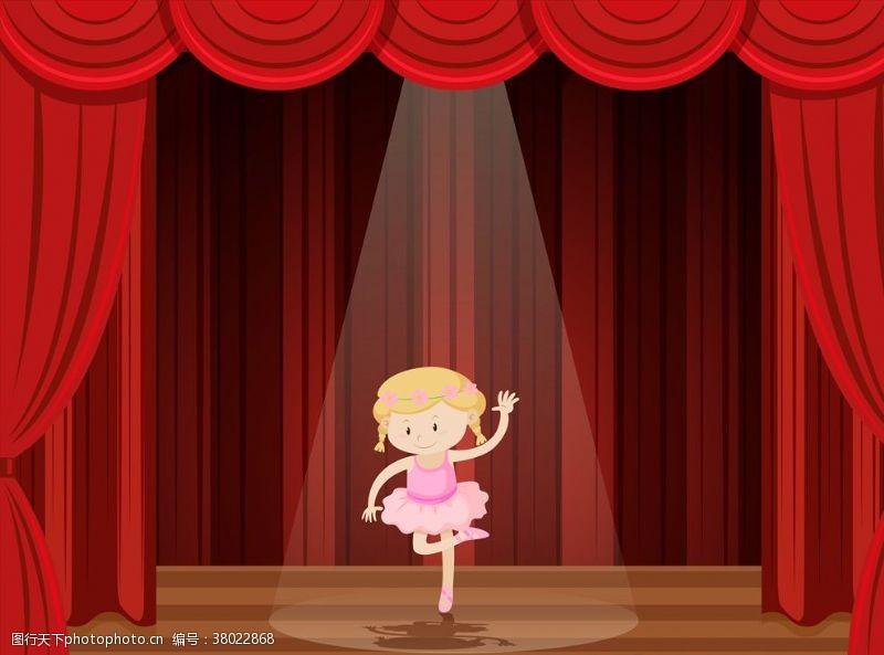 表演舞台卡通表演儿童