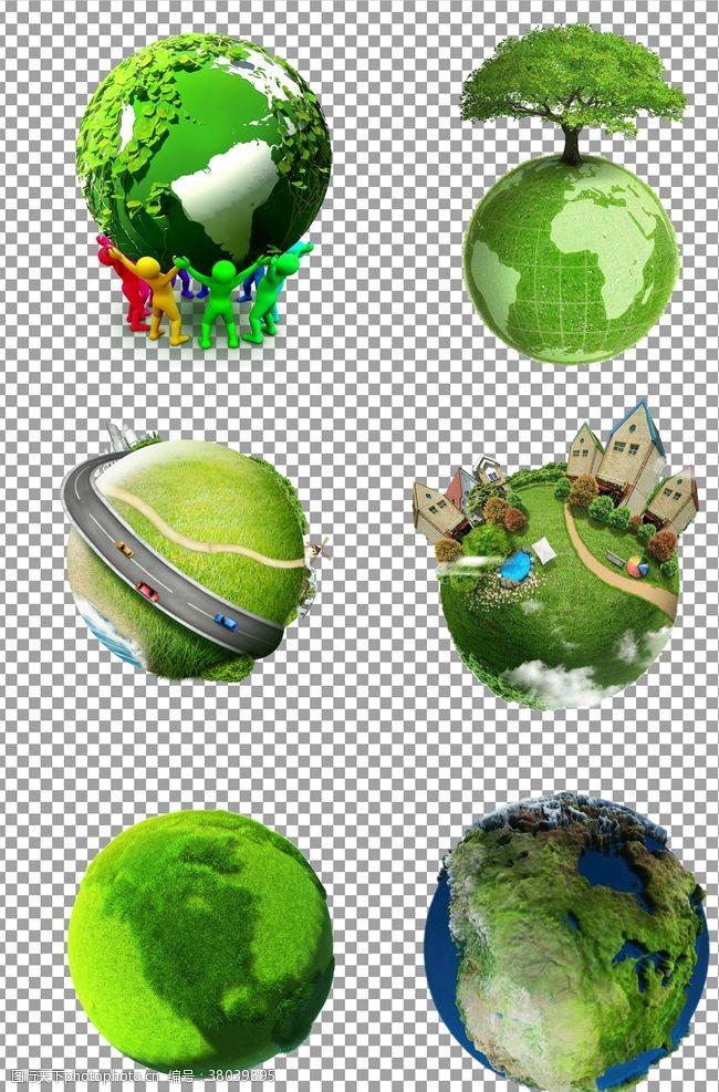 创意绿色环保地球