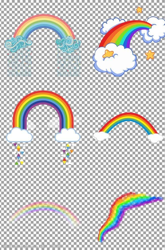 彩虹条七色彩虹