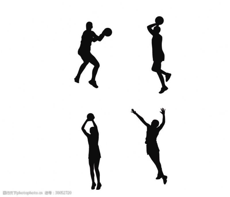 打篮球剪影