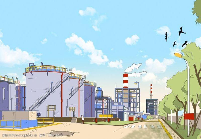 重工业化工厂漫画