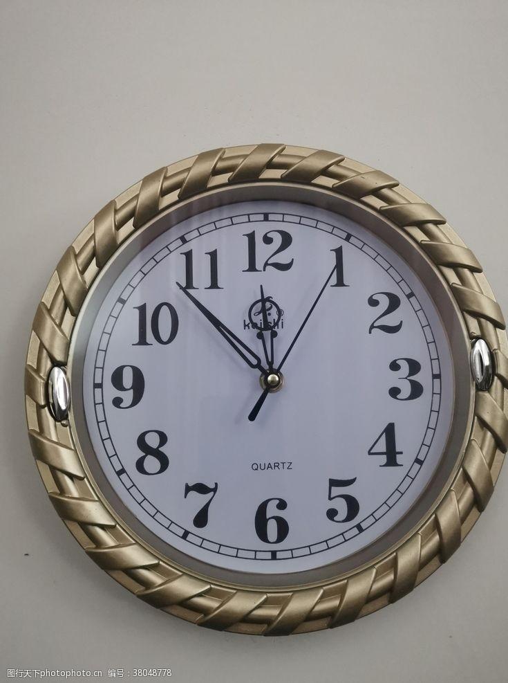 室内装饰品金框圆形时刻钟