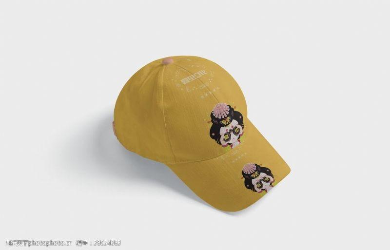 应用效果图帽子样机