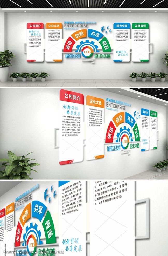 公司简介企业文化墙