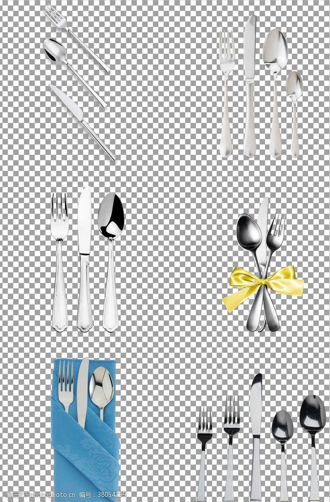 银色西餐餐具