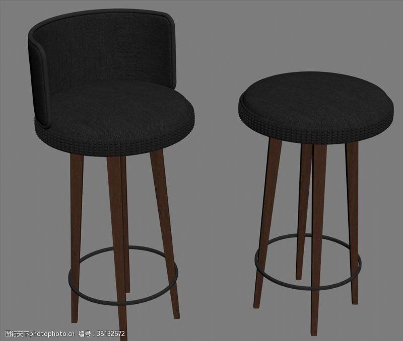 3d设计模型吧椅3D设计模型