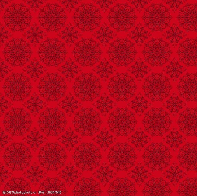纹理背景红色底纹花纹