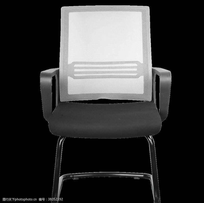 灰黑色时尚办公椅45度