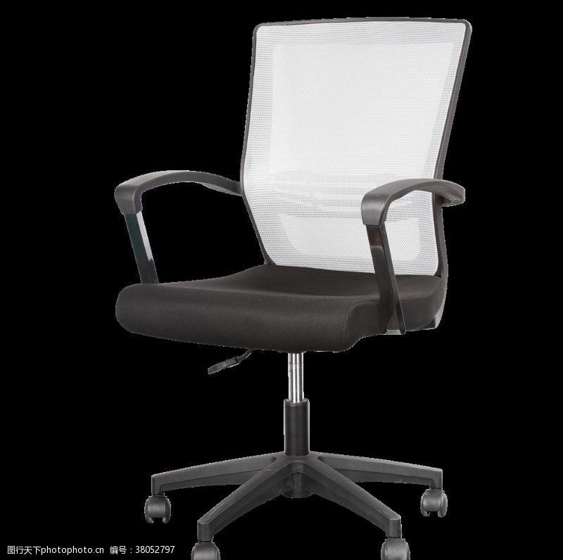 灰黑色时尚滑轮办公椅45度
