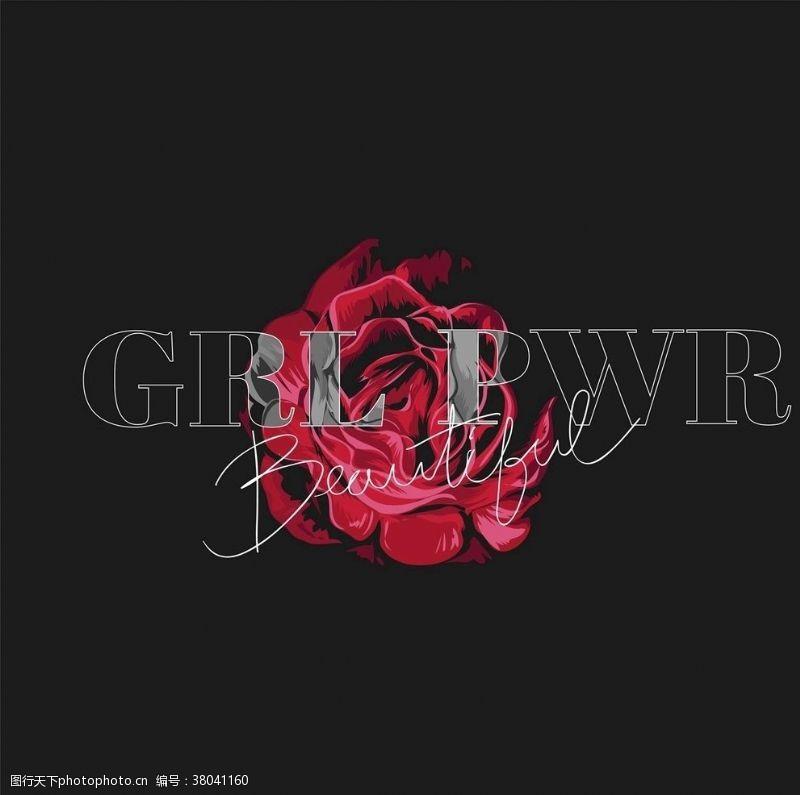 抽象玫瑰花