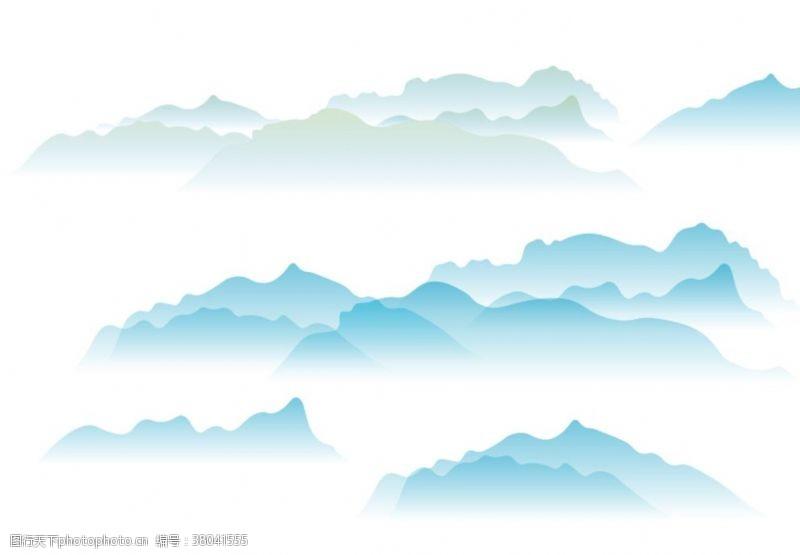 抽象中式山水