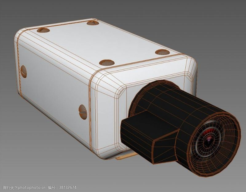 3d设计模型监控摄像机