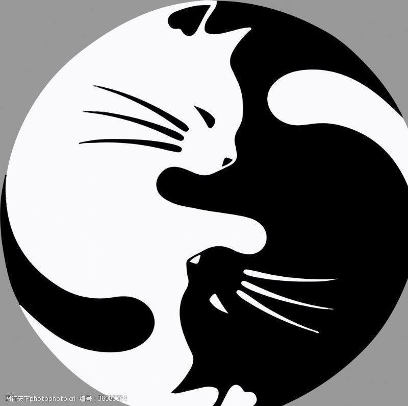 85dpi黑白猫