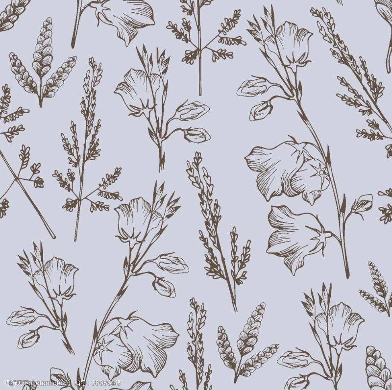 设计图案素材数码印花线条花